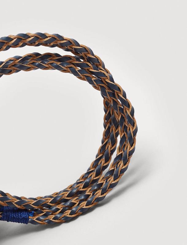 دستبند چرم بندی مردانه - مانگو
