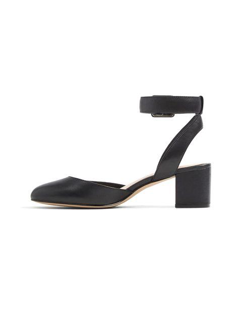 کفش پاشنه بلند چرم زنانه - مشکي - 3