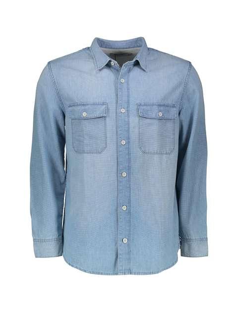 پیراهن جین آستین بلند مردانه - مانگو
