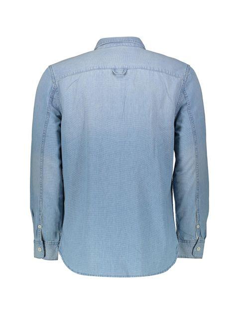 پیراهن جین آستین بلند مردانه - آبي - 2