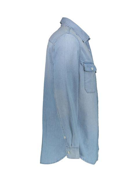 پیراهن جین آستین بلند مردانه - آبي - 3