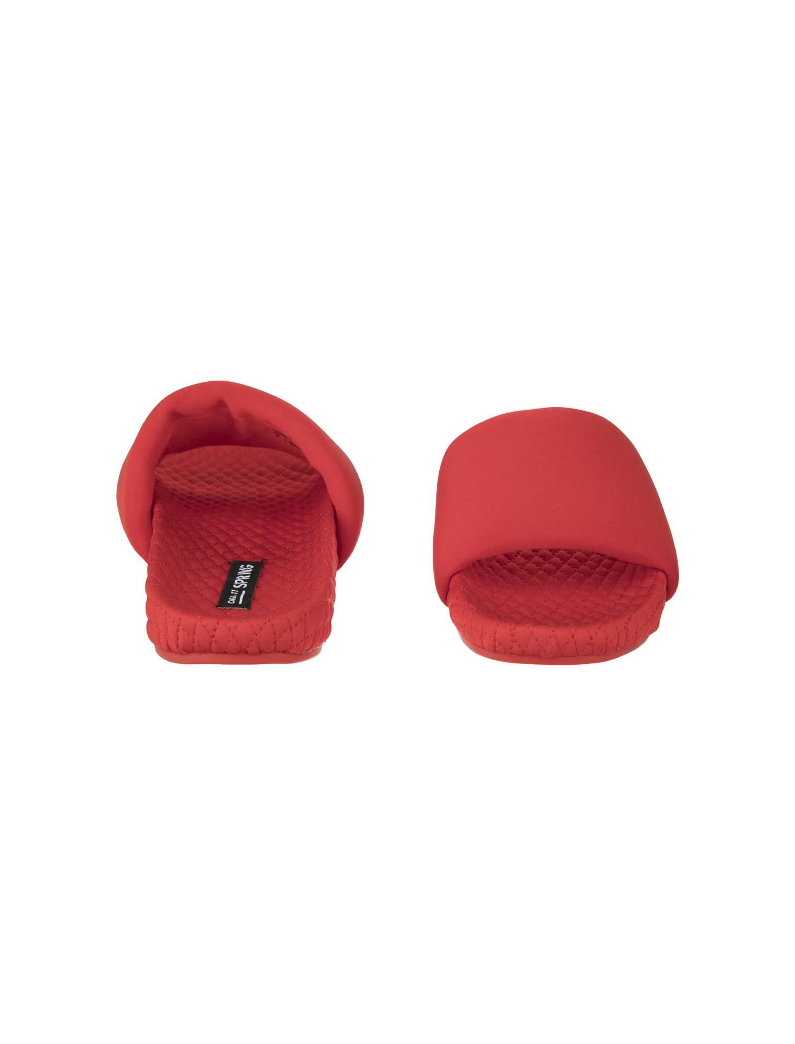 دمپایی روفرشی جلو باز زنانه - کال ایت اسپرینگ - قرمز - 5