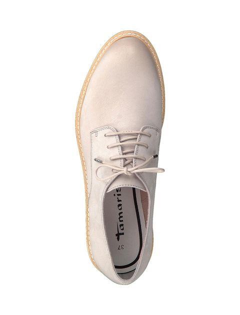 کفش تخت چرم زنانه Kela - تاماریس - طوسي - 2