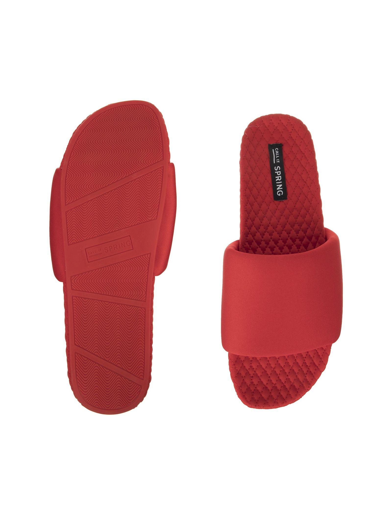 دمپایی روفرشی جلو باز زنانه - کال ایت اسپرینگ - قرمز - 6