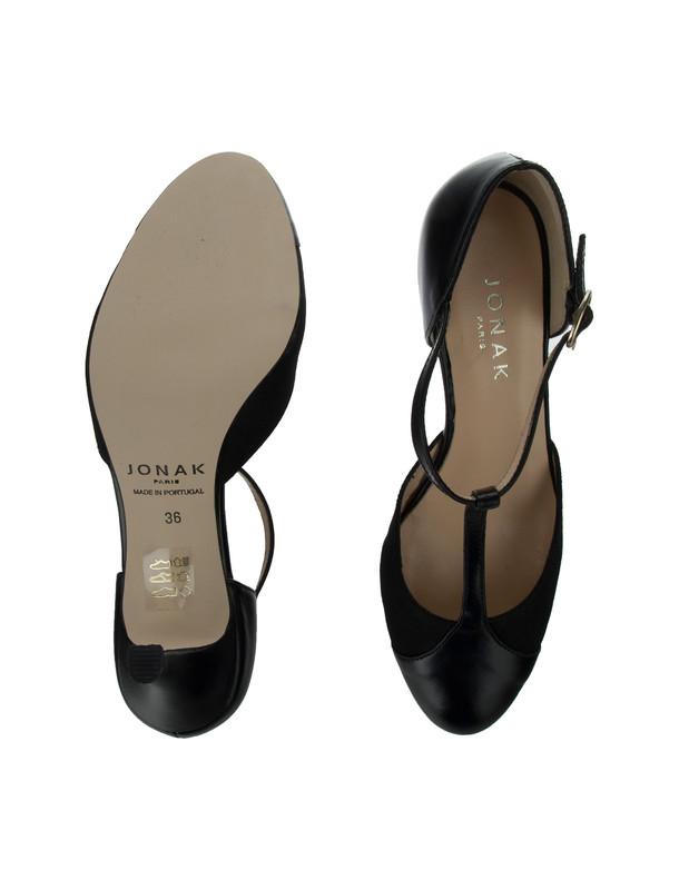 کفش چرم پاشنه بلند زنانه