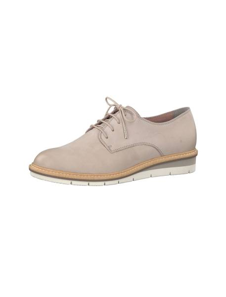کفش تخت چرم زنانه Kela - طوسي - 5