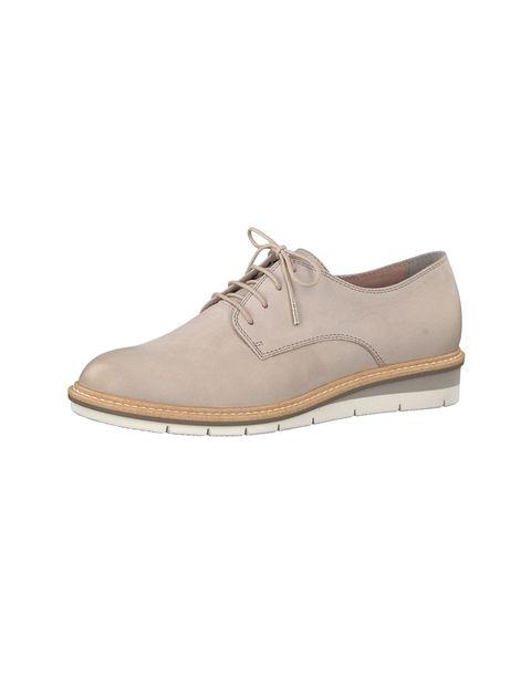 کفش تخت چرم زنانه Kela - تاماریس - طوسي - 5