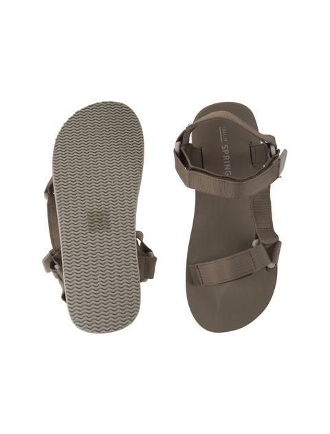 صندل چسبی مردانه - بژ - 2