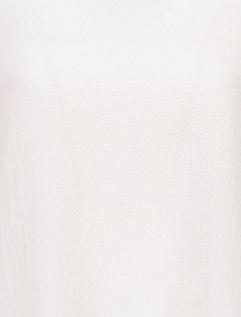بلوز یقه گرد زنانه - سفيد - 6