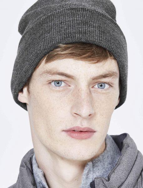 کلاه بافتنی بانی مردانه - زغالي - 4