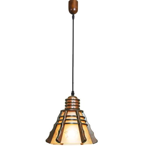 چراغ آویز دارکار مدل مخروطی 1 شعله کد 100