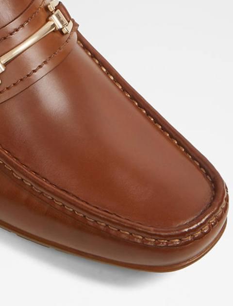 کفش راحتی چرم مردانه - عسلي - 4