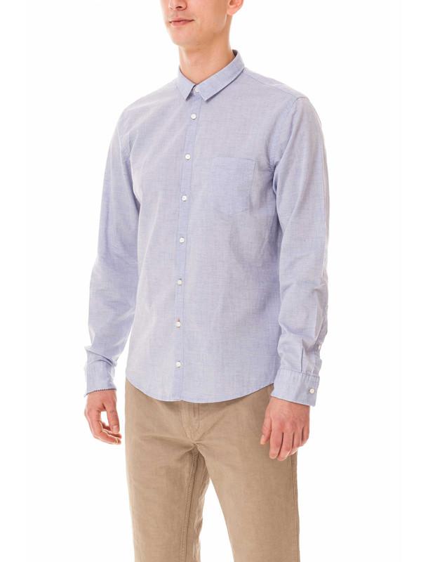 پیراهن نخی آستین بلند مردانه Erum - باس اورنج