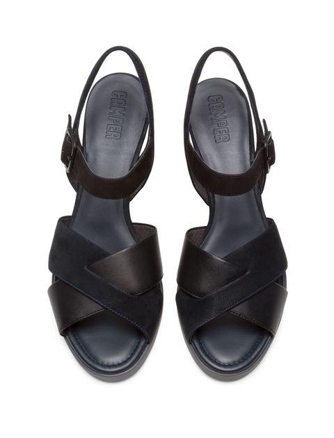 کفش پاشنه بلند چرم زنانه Kara - کمپر - مشکي - 2