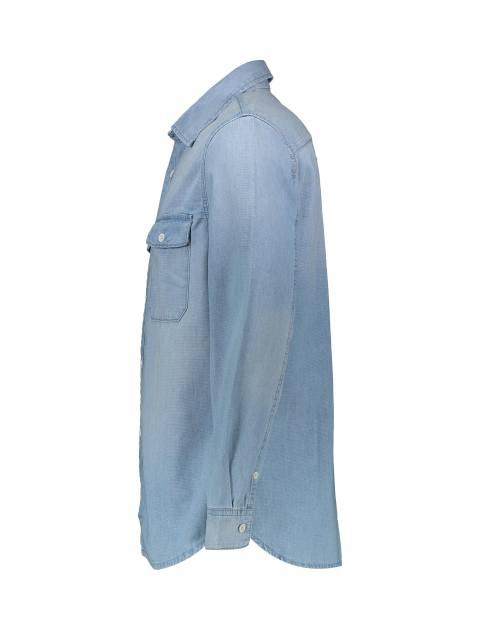 پیراهن جین آستین بلند مردانه - آبي - 4