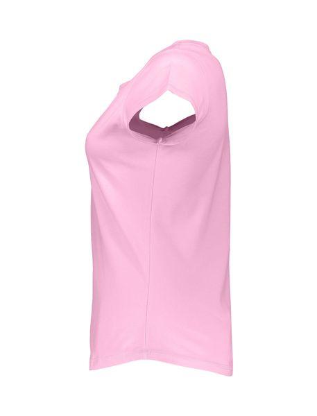 تی شرت نخی یقه گرد زنانه - صورتي - 3