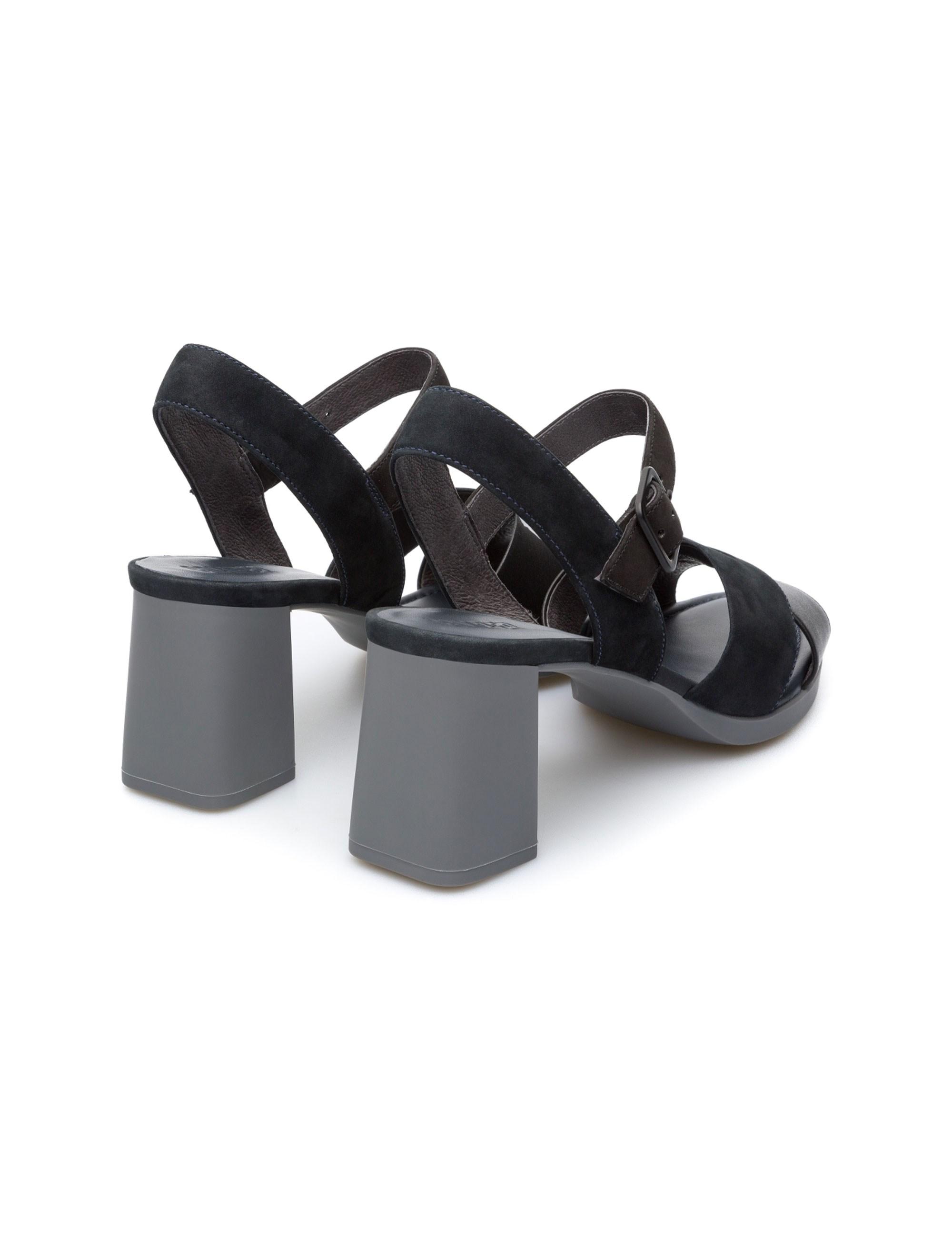 کفش پاشنه بلند چرم زنانه Kara - کمپر - مشکي - 3