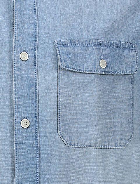 پیراهن جین آستین بلند مردانه - آبي - 5