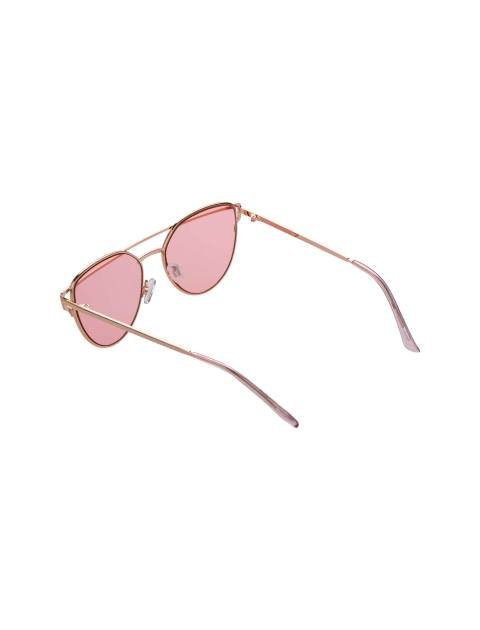 عینک آفتابی گربه ای زنانه - طلايي - 4