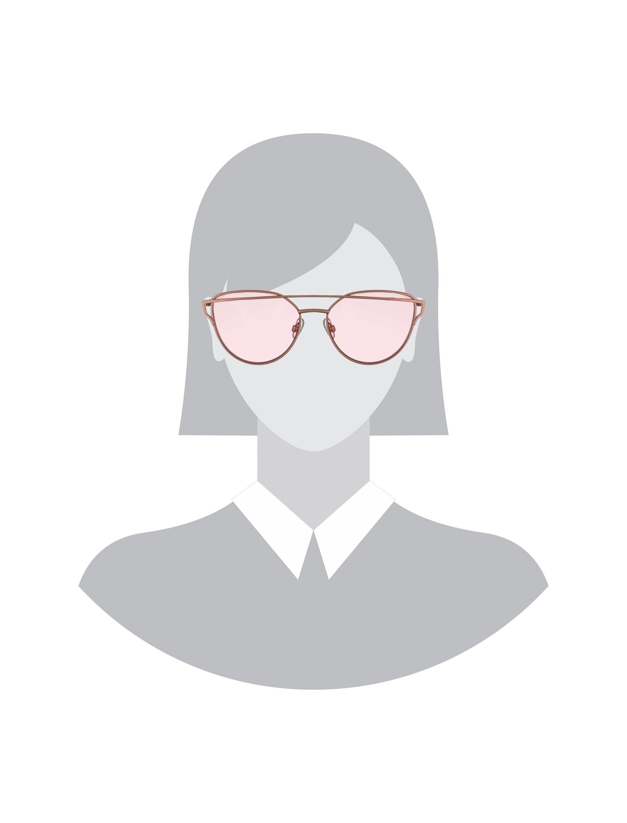 عینک آفتابی گربه ای زنانه - طلايي - 6
