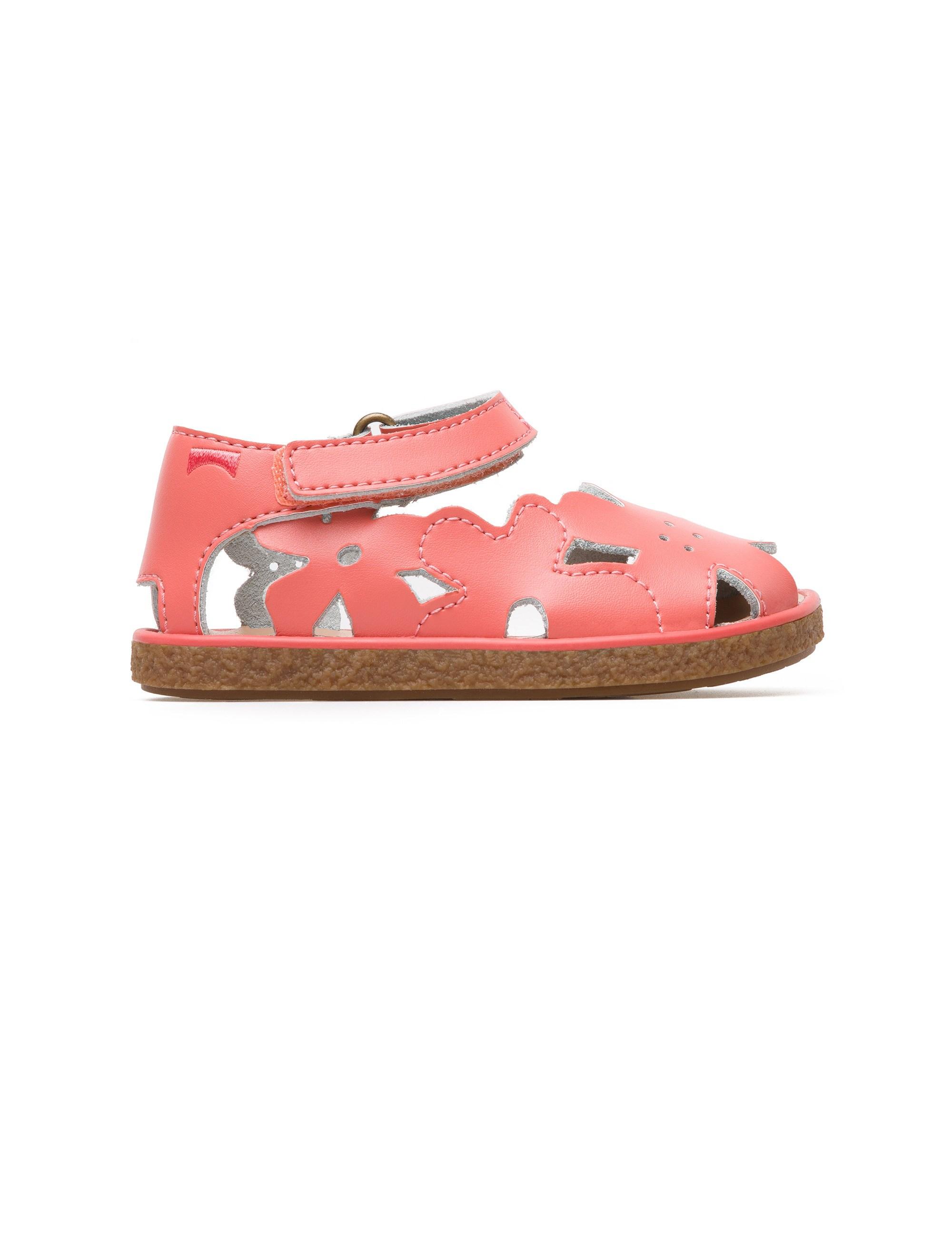 کفش چرم چسبی نوزادی دخترانه