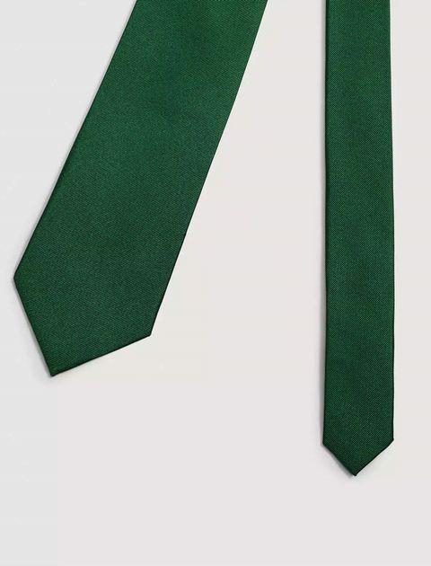 کروات ابریشم ساده مردانه - مانگو - سبز  - 2