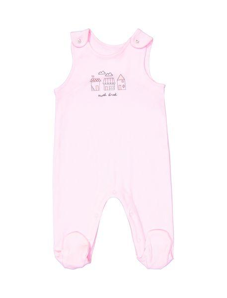 سرهمی و تی شرت نخی نوزادی دخترانه - سفيد و صورتي - 5