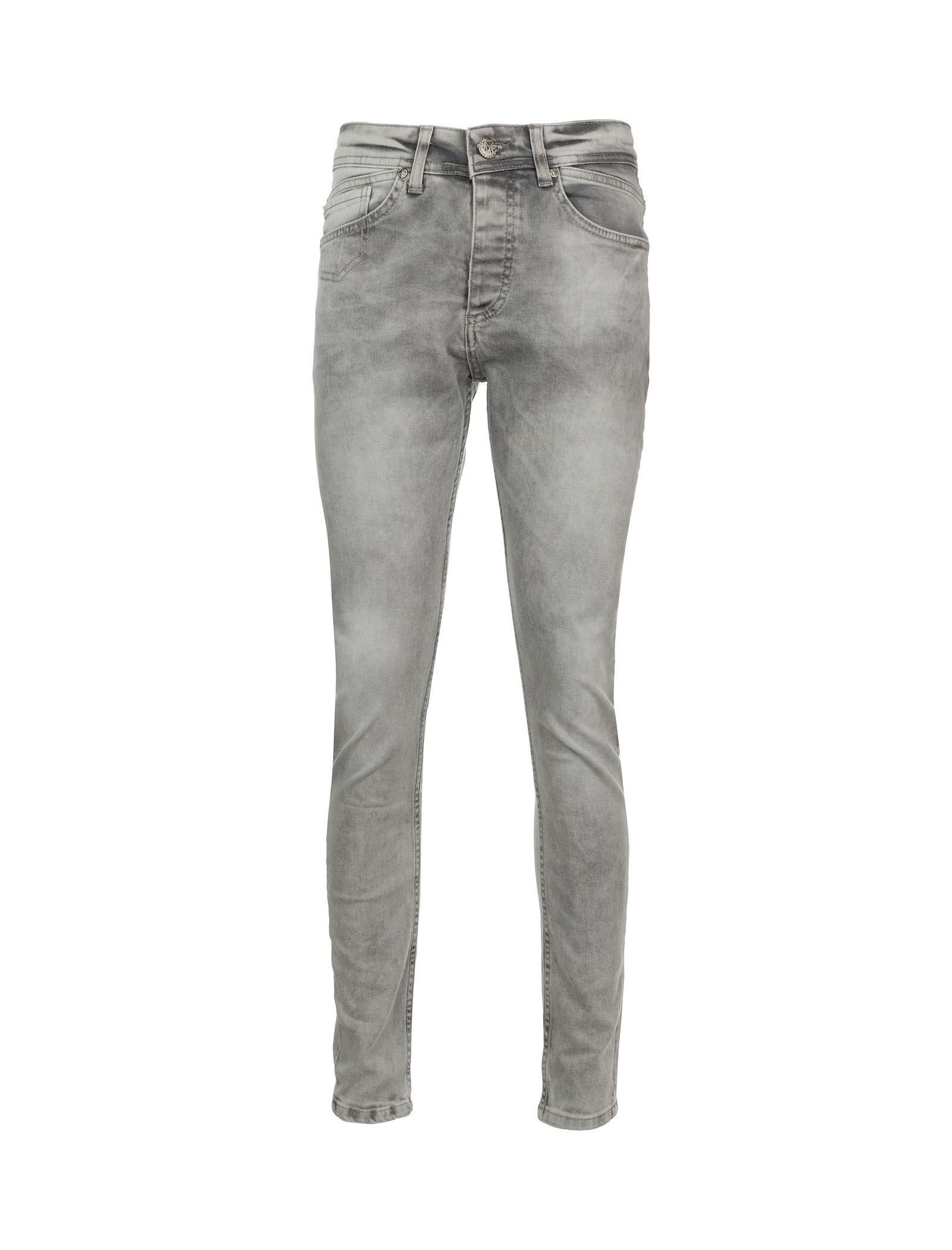شلوار جین راسته مردانه - بادی اسپینر - طوسي - 1