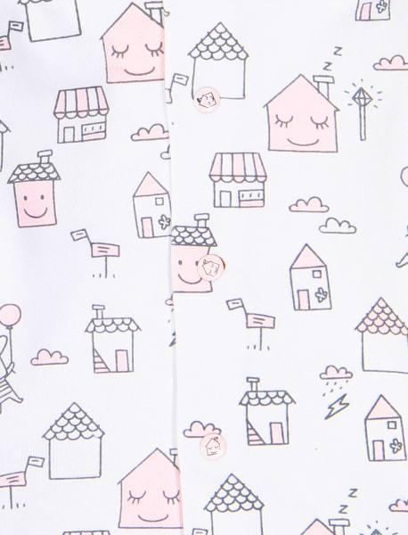 سرهمی و تی شرت نخی نوزادی دخترانه - سفيد و صورتي - 6