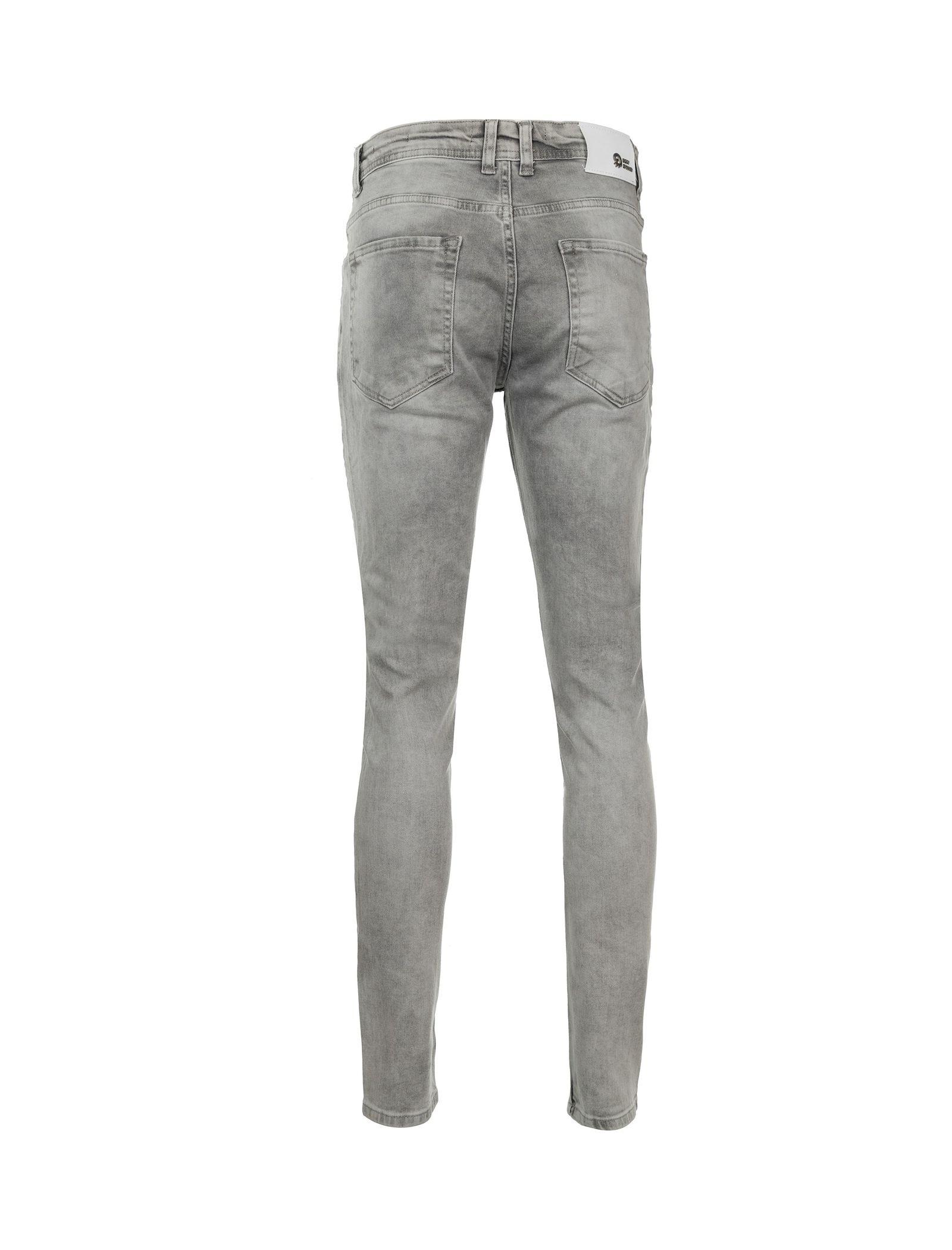 شلوار جین راسته مردانه - بادی اسپینر - طوسي - 2