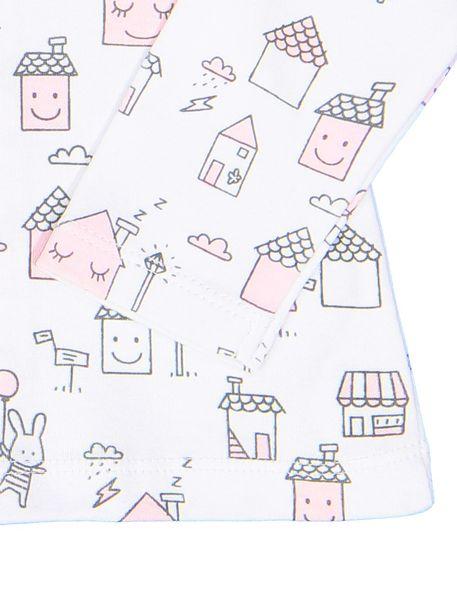 سرهمی و تی شرت نخی نوزادی دخترانه - سفيد و صورتي - 7