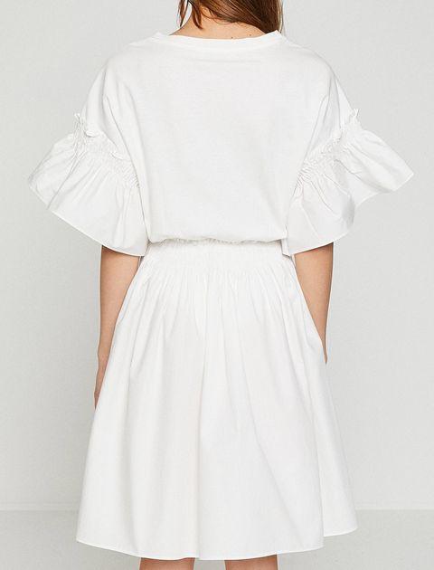 پیراهن کوتاه زنانه - سفيد - 7