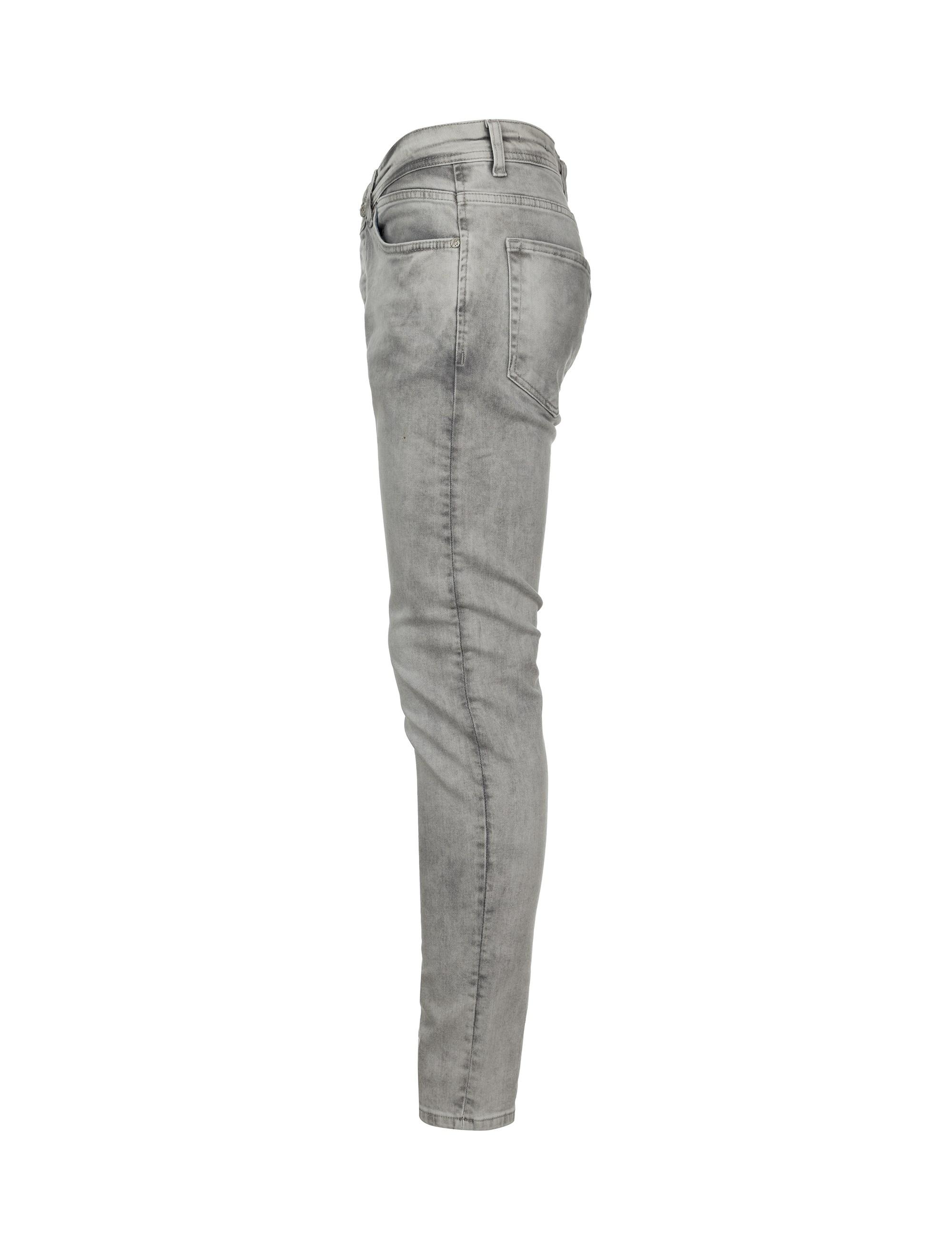شلوار جین راسته مردانه - بادی اسپینر - طوسي - 3
