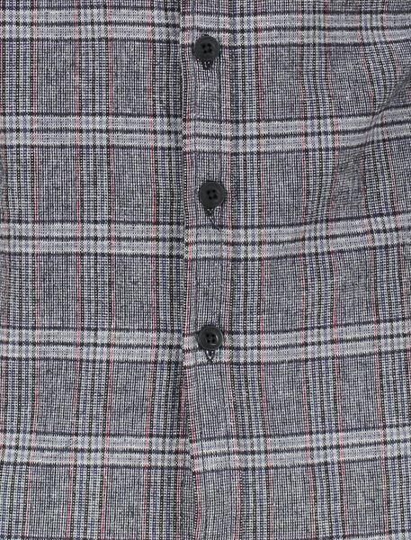 پیراهن نخی آستین بلند مردانه - طوسي - 5