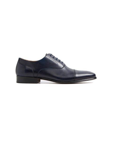 کفش رسمی چرم مردانه - سرمه اي - 1