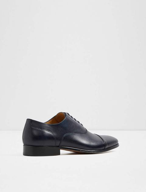 کفش رسمی چرم مردانه - سرمه اي - 3