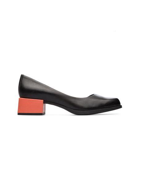 کفش پاشنه دار چرم زنانه - مشکي - 1