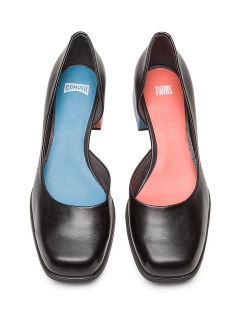 کفش پاشنه دار چرم زنانه - کمپر - مشکي - 2