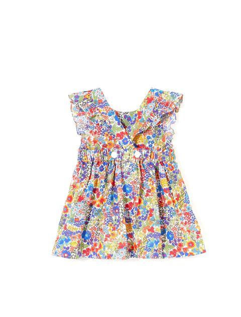 پیراهن نخی روزمره دخترانه Lianabis - جاکادی - چند رنگ - 2