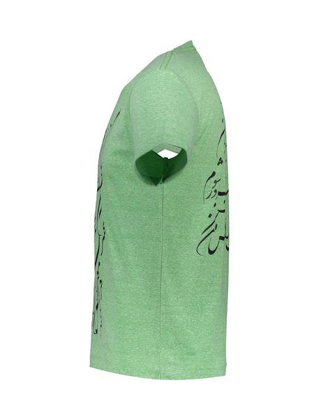 تی شرت یقه گرد مردانه - سبز - 3