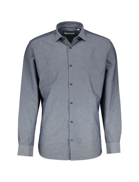 پیراهن نخی آستین بلند مردانه - آبي - 2