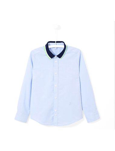 پیراهن نخی آستین بلند پسرانه Lank