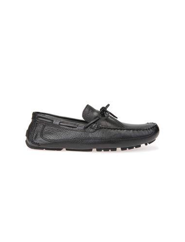 کفش راحتی چرم مردانه MELBOURNE - جی اوکس