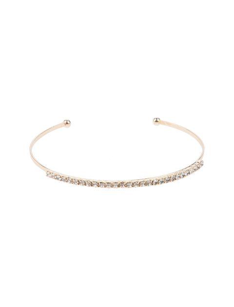 دستبند النگویی زنانه بسته 3 عددی - طلايي - 6
