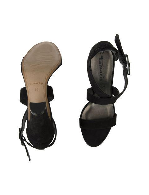کفش پاشنه بلند جیر زنانه - تاماریس - مشکي - 2