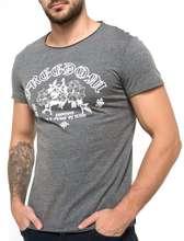 تی شرت یقه گرد مردانه - طوسي - 2
