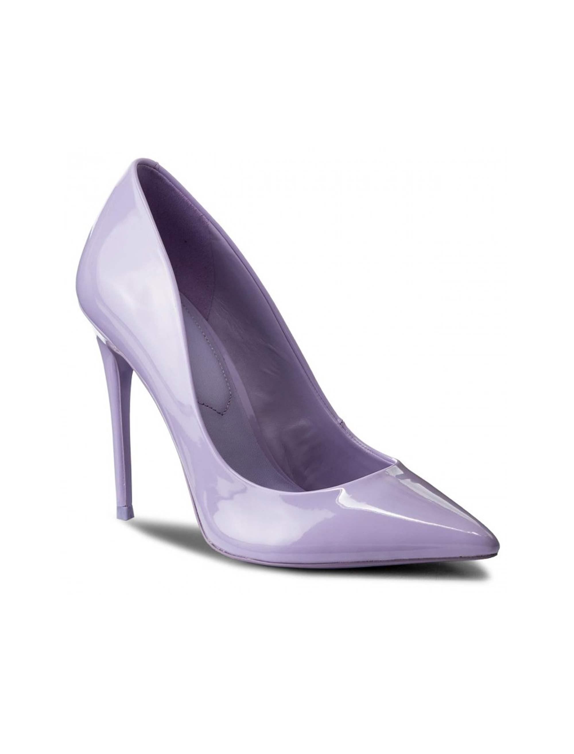 کفش پاشنه بلند زنانه - بنفش روشن - 1
