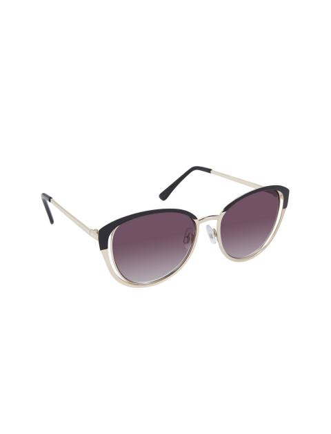 عینک آفتابی پروانه ای زنانه - مشکي و طلايي - 1