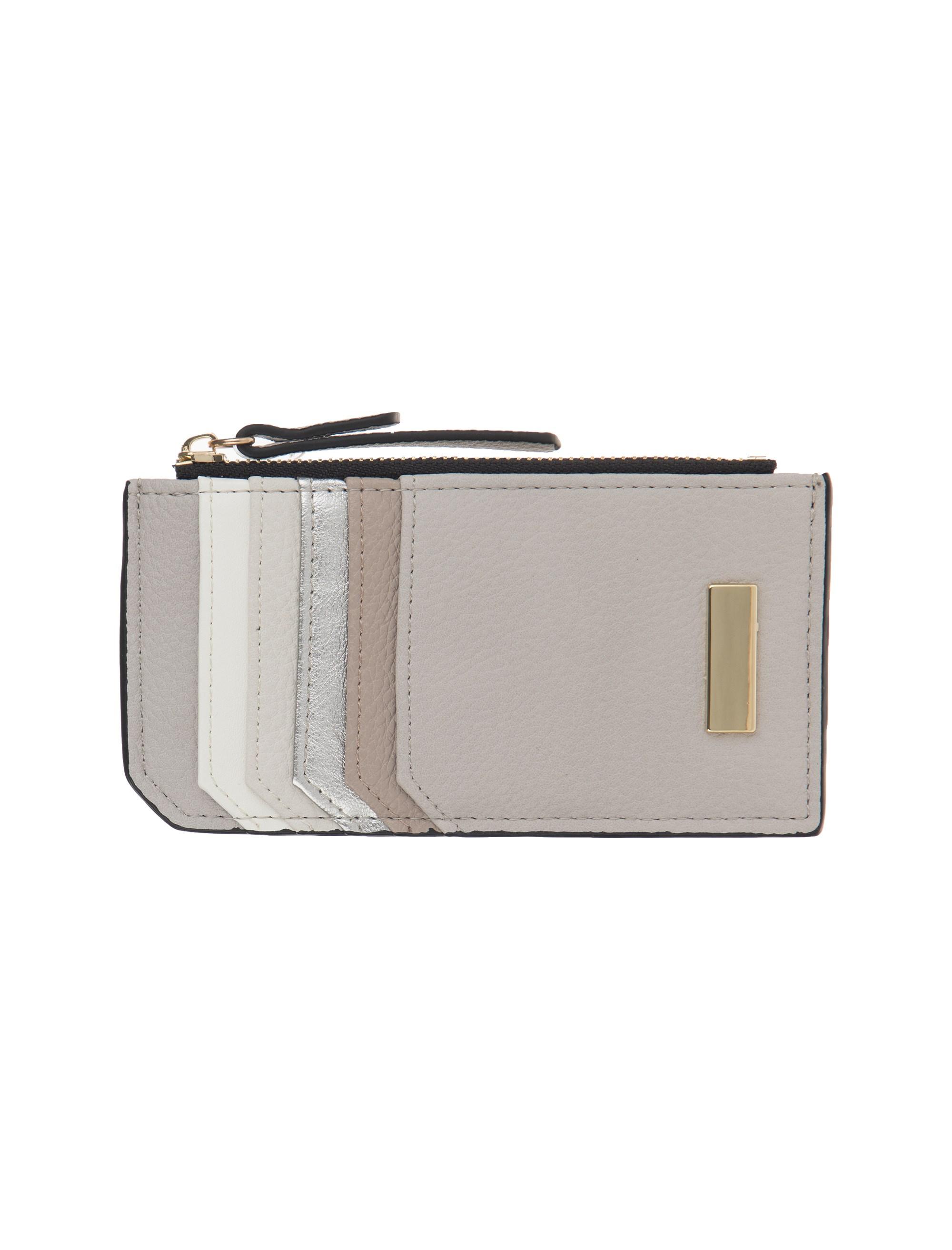 کیف پول زیپ دار زنانه - طوسي روشن - 2