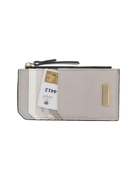 کیف پول زیپ دار زنانه - طوسي روشن - 3